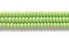 Seed Beads Czech Seed size 11 pale green opaque iridescent