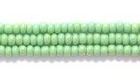 Seed Beads Czech Seed size 11 medium green opaque iridescent