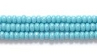Seed Beads Czech Seed size 11 turquoise green opaque iridescent