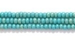 Seed Beads Czech Seed size 11 blue green opaque iridescent