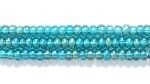 Image Seed Beads Czech Seed size 11 emerald green transparent iridescent