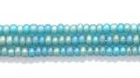Seed Beads Czech Seed size 11 emerald green transparent iridescent matte