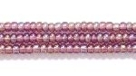Seed Beads Czech Seed size 11 amethyst purple transparent iridescent