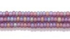 Seed Beads Czech Seed size 11 amethyst purple transparent iridescent matte