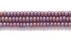 Seed Beads Czech Seed size 11 dark purple opaque iridescent