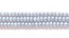 Seed Beads Czech Seed size 11 grey opalescent