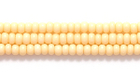 Seed Beads Czech Seed size 11 gel light yellow opaque