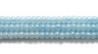 Seed Beads Czech Seed size 11 pale blue opalescent iridescent