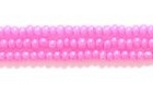 Seed Beads Czech Seed size 11 pink on alabaster (dyed) opalescent