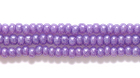 Seed Beads Czech Seed size 11 purple on alabaster opalescent