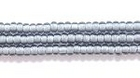 Seed Beads Czech Seed size 11 grey with white color lined transparent