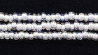 Seed Beads Czech Seed size 11 crystal w/white color lined iridescent