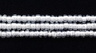 Seed Beads Czech Seed size 11 crystal w/white color lined transparent