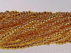 Czech Seed size 11 yellow copper lined transparent