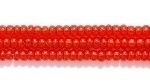 Image Seed Beads Czech Seed size 11 ruby red copper lined transparent