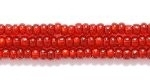 Seed Beads Czech Seed size 11 garnet red copper lined transparent