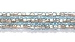 Image Seed Beads Czech Seed size 11 light aqua blue copper lined transparent