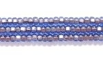 Image Seed Beads Czech Seed size 11 light sapphire blue copper lined transparent