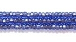 Image Seed Beads Czech Seed size 11 sapphire blue copper lined transparent