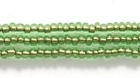 Seed Beads Czech Seed size 11 light green copper lined transparent