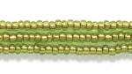 Image Seed Beads Czech Seed size 11 olive green copper lined transparent