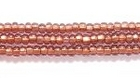 Seed Beads Czech Seed size 11 light amethyst copper lined transparent