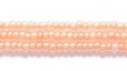Seed Beads Czech Seed size 11 crystal w/peach color lined transparent