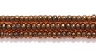 Seed Beads Czech Seed size 11 topaz brown color lined transparent
