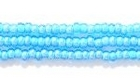 Seed Beads Czech Seed size 11 light aqua w/white color lined transparent