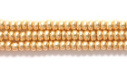 Seed Beads Czech Seed size 11 color-washed gold metallic