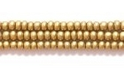 Seed Beads Czech Seed size 11 brass metallic