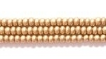 Seed Beads Czech Seed size 11 light gold metallic