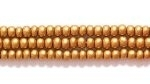 Seed Beads Czech Seed size 11 dark gold opaque silk