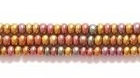 Seed Beads Czech Seed size 11 bronze opaque silk iridescent