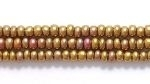 Image Seed Beads Czech Seed size 11 bronze opaque silk