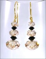 Happy New Year Gold Earrings