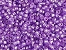 Seed Beads Miyuki Seed size 15 purple (dyed) silver lined semi frost