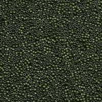 Image Miyuki Seed size 15 olive green metallic matte