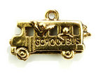 Charms school bus antique gold 11 x 23mm