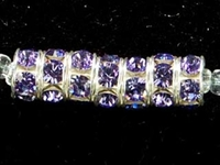 Swarovski Crystal Beads 6mm rhinestone rondell (1775) tanzanite (blueish purple) sterling silver plate
