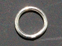 sterling silver 7mm soldered jumpring silver