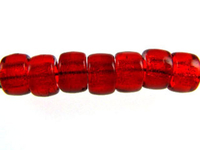 Czech Pressed Glass 6mm crow ruby red transparent