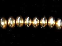 Metal Beads 6mm  saucer goldfill