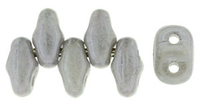 Image Seed Beads Czech MiniDuo 2 x 4mm grey opaque luster