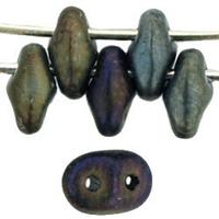 Seed Beads Czech SuperDuo 2 x 5mm brown iris matte matte iridescent