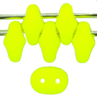 Seed Beads Czech SuperDuo 2 x 5mm neon yellow opaque