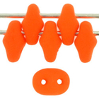 Seed Beads Czech SuperDuo 2 x 5mm neon orange opaque