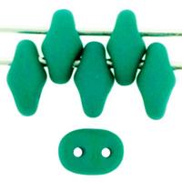 Seed Beads Czech SuperDuo 2 x 5mm neon emerald opaque
