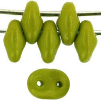 Image Seed Beads Czech SuperDuo 2 x 5mm olive opaque