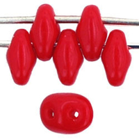 Image Seed Beads Czech SuperDuo 2 x 5mm red opaque
